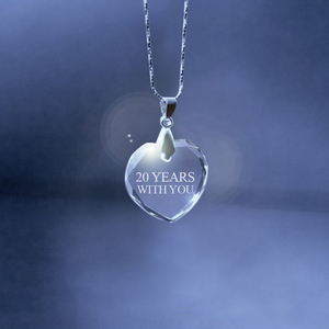 Anniversary Crystal Heart Necklace