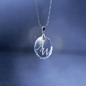 Anniversary Crystal Oval Necklace