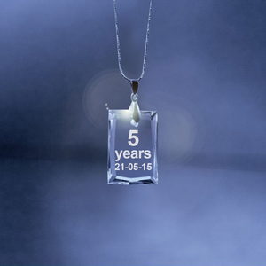 Anniversary Crystal Square Necklace