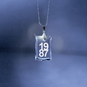 Birthday Crystal Square Necklace