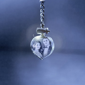 Wedding Crystal Heart Keychain