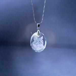 Other Crystal Oval Necklace