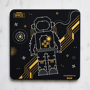 PCB Coaster Astronaut & Earth