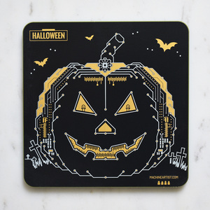 PCB Coaster Pumpkin & Ghosts
