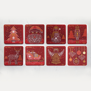 PCB Coaster Christmas 8 Piece