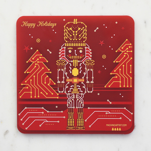 PCB Coaster Nutcracker & Christmas Candy