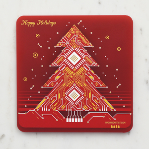 PCB Coaster Christmas Tree & Christmas Flower
