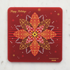 Pcb coaster christmas flower
