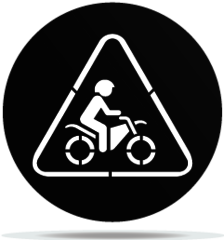 Gobo Signs Motorcycle