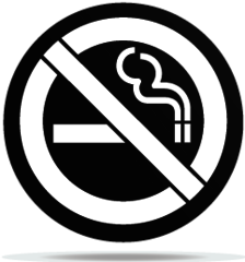 Gobo Signs No Smoking Area
