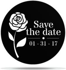 Gobo Wedding Save the Date Flower