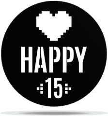 Gobo Birthday Pixel Heart