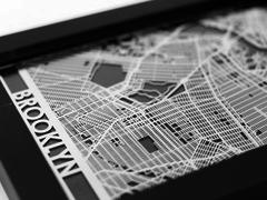 "Brooklyn - Stainless Steel Map - 5""x7"""