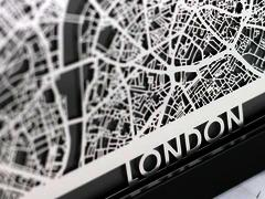 "London - Stainless Steel Map - 5""x7"""