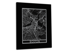 "Boston - Stainless Steel Map - 11""x14"""