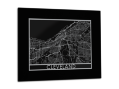 "Cleveland - Stainless Steel Map - 11""x14"""
