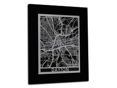 "Dayton - Stainless Steel Map - 11""x14"""