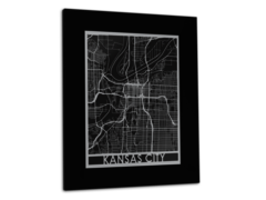 "Kansas City - Stainless Steel Map - 11""x14"""