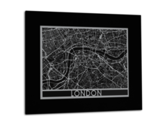 "London - Stainless Steel Map - 11""x14"""