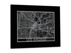 "Los Angeles - Stainless Steel Map - 11""x14"""