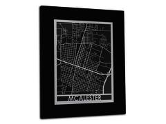 "McAlester - Stainless Steel Map - 11""x14"""