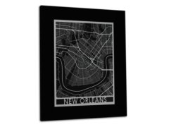 "New Orleans - Stainless Steel Map - 11""x14"""