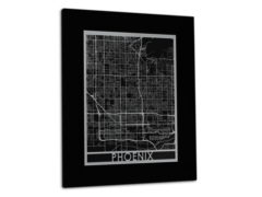 "Phoenix - Stainless Steel Map - 11""x14"""