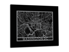 "Washington DC - Stainless Steel Map - 11""x14"""